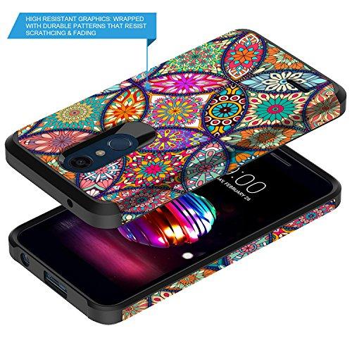 LG K30 Case, LG Premier Pro LTE Case, LG Harmony 2 Case, LG Phoenix Plus  Case, Rosebono Slim Hybrid Dual Layer Shockproof Graphic Cover Armor Case  for