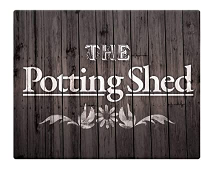 8Jo6Poe The Potting Shed Shabby Chic Garden Metal Street Sign 10X8 Novelty  Sign Funny Signs For