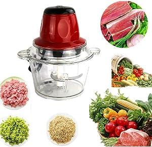 Dongtu 2L 300W Electric Food Chopper Meat Grinder Kitchen Fast Processor Machine Meat Grinders