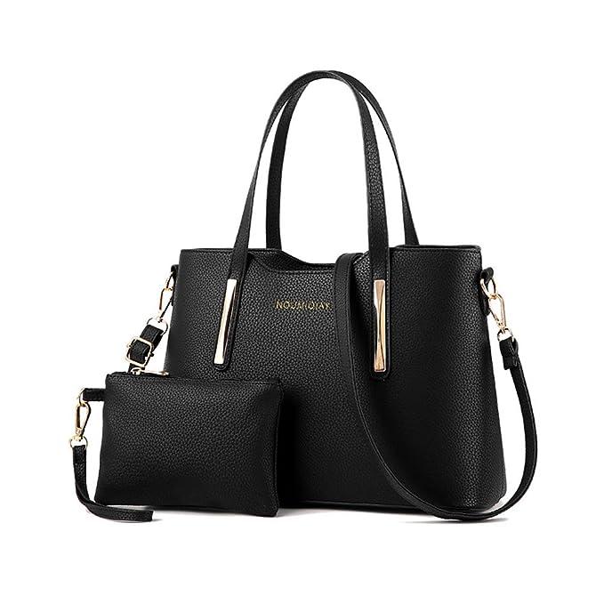 OULII 2pcs Womens sac à bandoulière en cuir Top-poignée sacs à main fourre-tout sac à main sacs de noël cadeau pour les filles bureau dames (gris) Sortie Très Pas Cher ZQnU6izYJk
