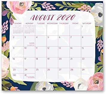 Amazon Com Magnetic Monthly Calendar Pad 2020 2021 In Bella Flora By Orange Circle Studio 8 X 10 17 Month Daily Planner Organizer With Magnetic Tab Hang On Fridge Cabinet Or