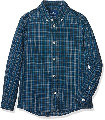 TOM TAILOR Kids Jungen Hemd Basic Mountain Shirt, Grün (Deep Pond Green 7633), 176