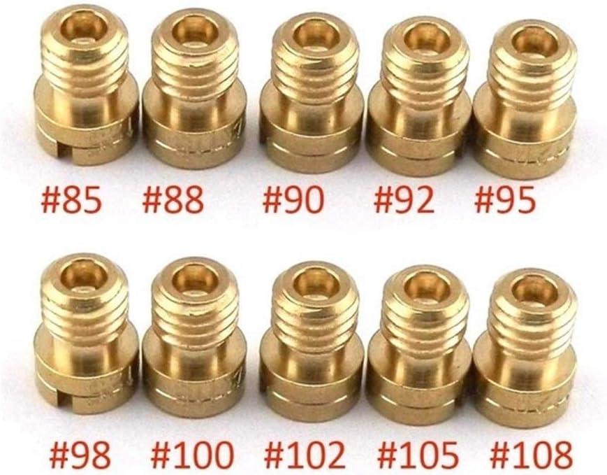 N Color : 110-132 A Hohe Qualit/ät Packen von 10pcs M5 Hauptd/üse 5mm for Keihin OKO KOSO PWK Vergaser 125cc 150cc CVK PZ27 PZ30 152QMI 157QMJ Injector Scooter Parts Zubeh/ör