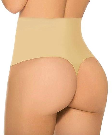 e8ae14d3733 FLORATA Women Waist Cincher Girdle Tummy Slimmer Sexy Thong Panty Shapewear  at Amazon Women s Clothing store