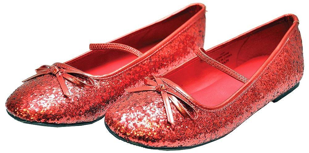 3137a050bf29d Amazon.com: DISC0UNTST0RE Girls - Kids-Flat Ballet Slipper Glitter ...