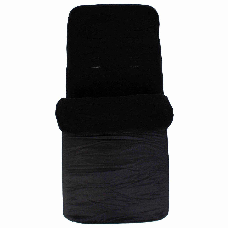 Reflex Black Universal Footmuff To Fit Silver Cross Pop Fizz