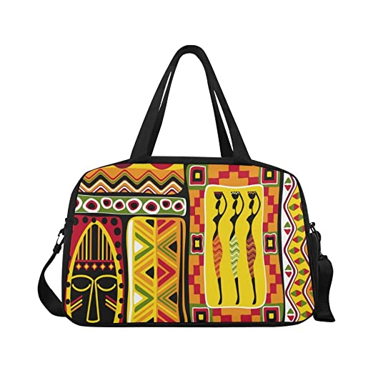 InterestPrint African Ethnic Duffel Bag Travel Tote Bag Handbag Luggage b7ab499f956