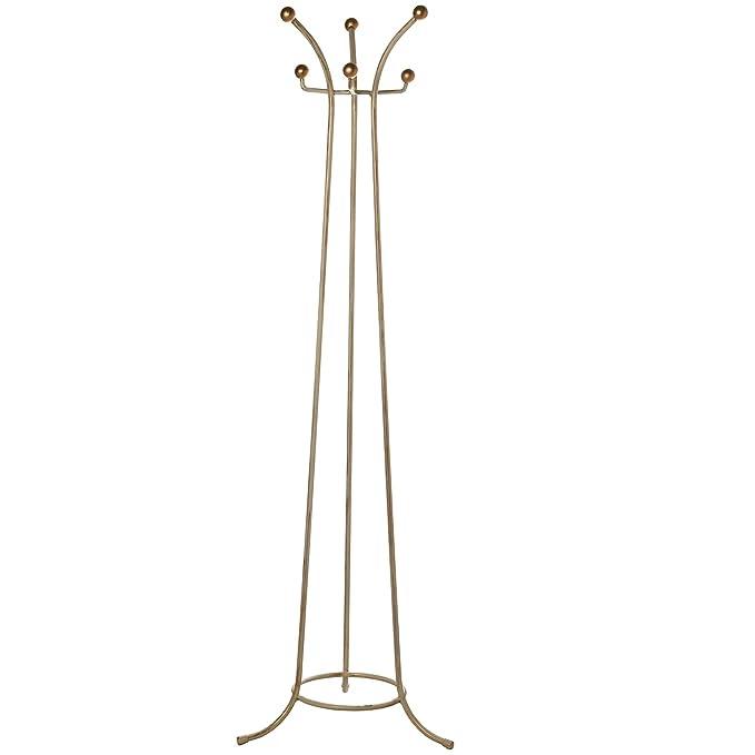 DRW Perchero de pie forja Blanco Doble Altura, Metal, 172 X ...