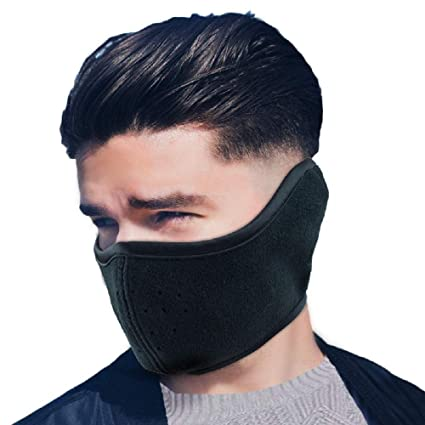 a3846539e10 Men Women Winter Cold-Proof Mask Half Face Fleece Warmer Mask Windproof  Mouth Mask with