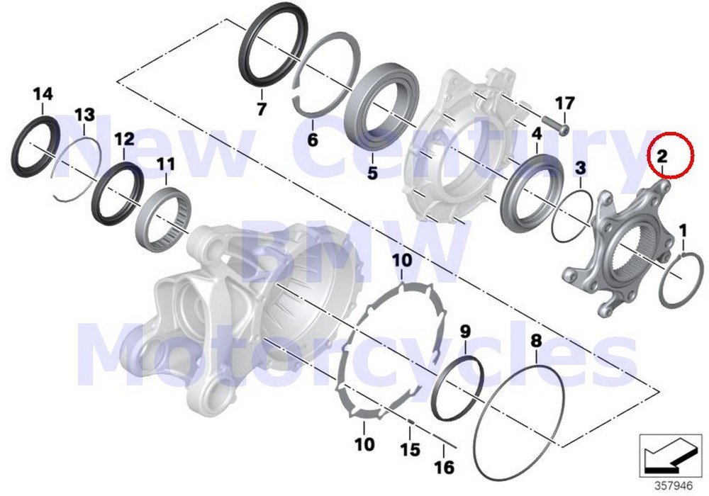 BMW Genuine Motorcycle Ring Gear Bearing Flange R nine T R1200GS R1200GS Adventure HP2 Enduro HP2 Megamoto R1200RT R900RT R1200R R1200ST HP2 Sport R1200S K1200S K1300S K1200R K1200R Sport K1300R K120 by BMW