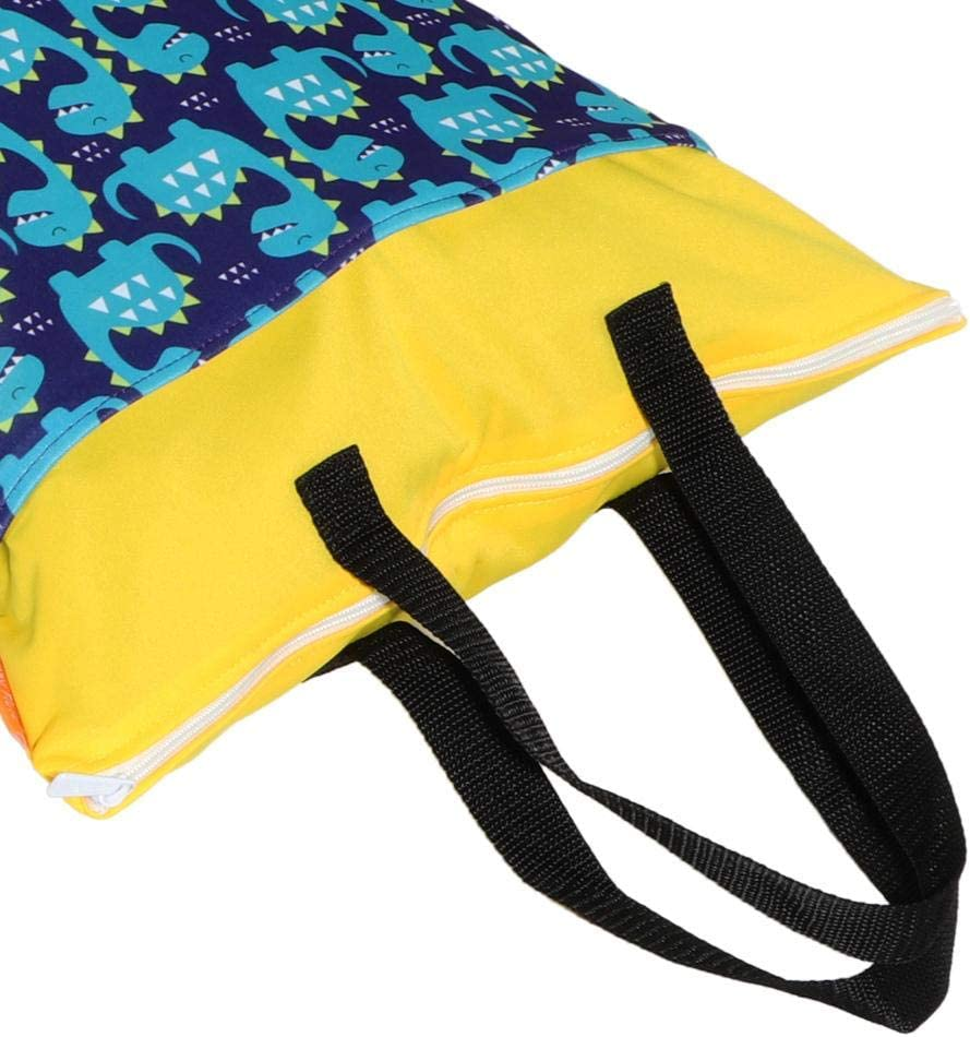 Sac de couche-culotte de v/êtements multifonctionnels de b/éb/é EF77 chariot de rangement de couche imperm/éable infantile accrochant lavable et r/éutilisable