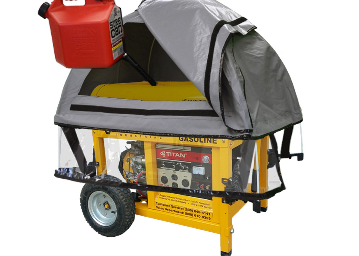 GenTent 20k Generator Tent Running Cover - Universal Kit (Extreme) - Compatible with10000w+ Portable Generators (GreySkies) by GenTent Safety Canopies (Image #4)