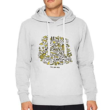 cddbd8b5b Amazon.com: Mac Demarco This Old Dog Man's Hoodies Custom Sweatshirts  White: Clothing
