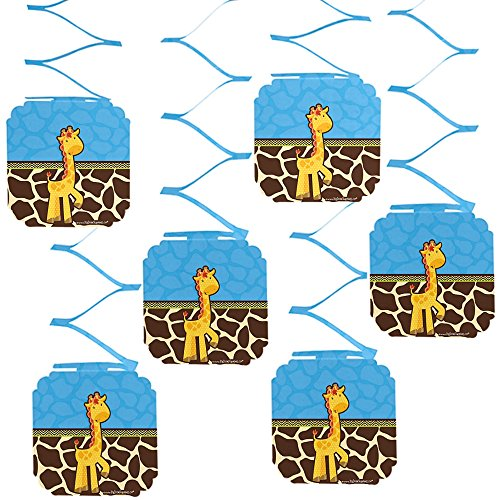 Big Dot of Happiness Giraffe Boy - Baby Shower or Birthday Party Hanging Decorations - 6 Count]()