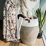 Goodpick Large Laundry Hamper   Woven Cotton Rope