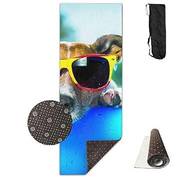 Vercxy - Esterilla de Yoga para Perro con Gafas de Sol, diseño de ...