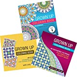 Adult Coloring Book Set of 3: Mandalas, Flower Designs & Geometric Patterns 144+ Relaxing Art Pages