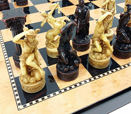 (Greek Gods Mythology Set of Chess Men Pieces Hand)