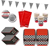 Race Car Party Birthday Racing Party Supplies Tableware Pack Bundle for 16