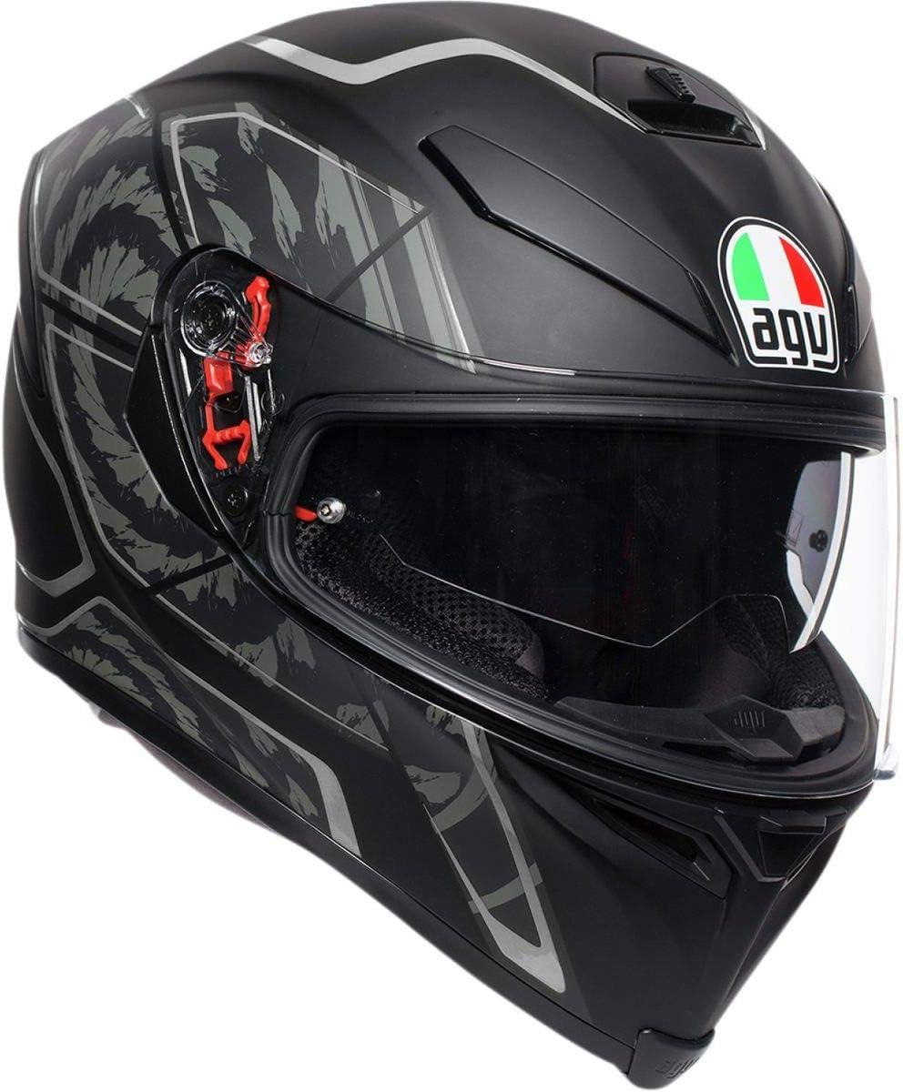 AGV Unisex-Adult Full Face K-5S Tornado Motorcycle Helmet Silver, Large