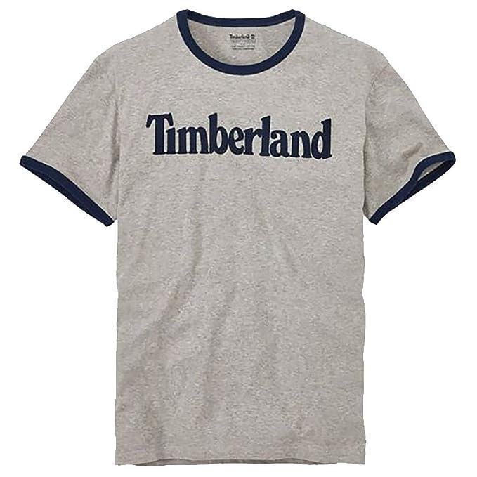 Timberland Men's Short Sleeve Linear Logo Cotton T Shirt