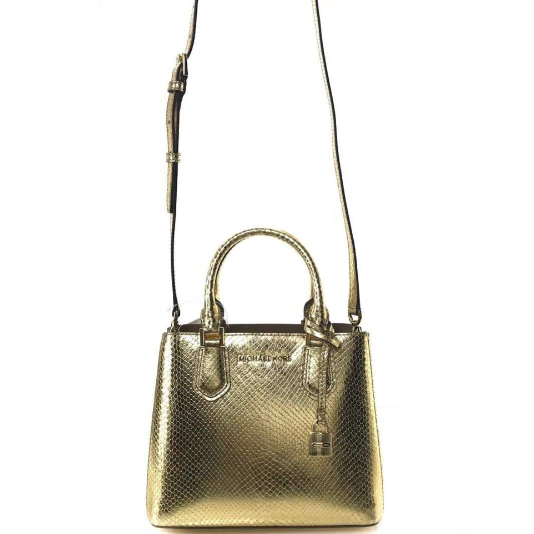 61533329cd4d Michael Kors petit sac à main et bandoulière Adele cuir gold 23x19x10cm neuf   Amazon.fr  Chaussures et Sacs