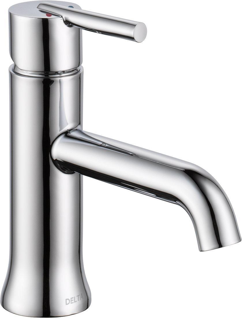 Delta 559LF-MPU Trinsic Single-Handle Bathroom Faucet with Metal Drain Assembly, Chrome