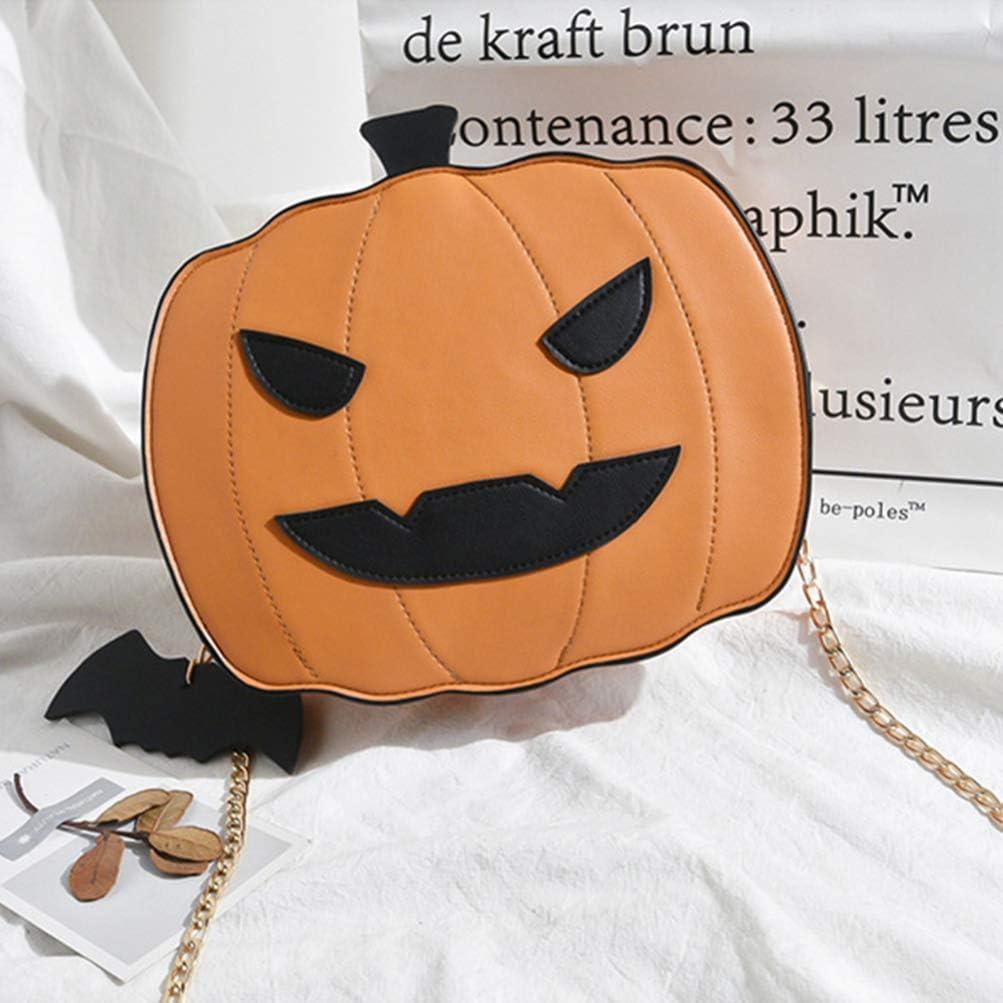 Black FENICAL Crossbody Bag Halloween Pumpkin Messenger Bag Devil Shoulder Chain Bag for Women Girls Kids