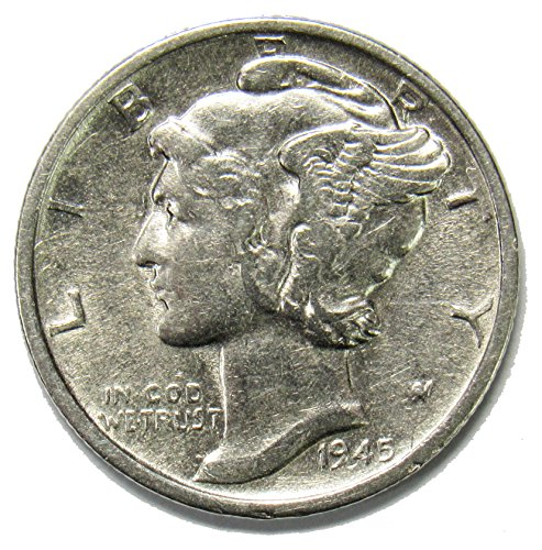 (1945 S Silver Mercury Dime 10¢ Brilliant Uncirculated)