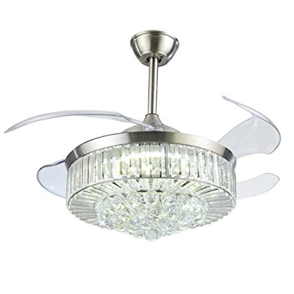 Amazon.com: Fandian - Ventilador de techo de cristal de 42 ...