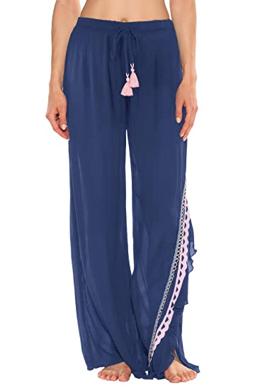 a8f8372f5b ISABELLA ROSE Women's Country Roads Rickrack Cover Pants Swim Cover Up at Amazon  Women's Clothing store: