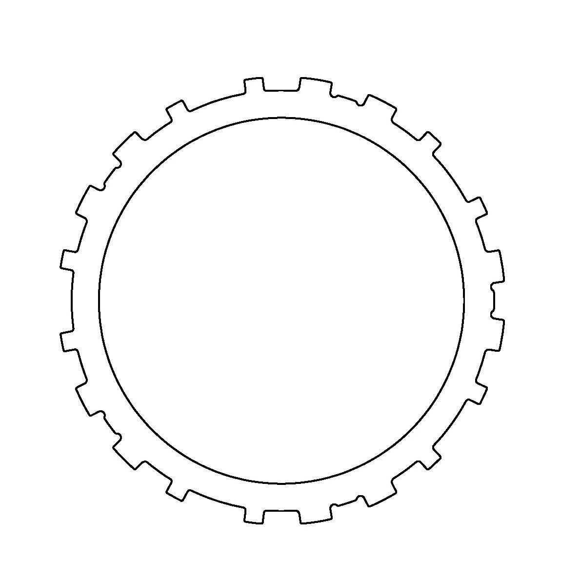 Aftermarket 057725A242 Steel, 3-4 Clutch (.095') 3-4 Clutch (.095) Transmaxx