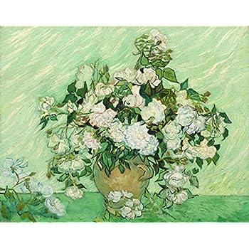 Amazon Wieco Art Vase Pink Roses Van Gogh Flowers Oil Paintings
