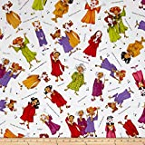 Loralie Designs Church Ladies Sing It Sister Fabric by The Yard, White