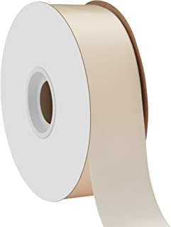 product image for Offray Single Face Satin Craft 1-1/2-Inch by 50-Yard Ribbon Spool, Ivory