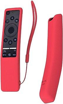 SIKAI Funda Compatible con Mando de Samsung UHD 4K Smart TV Bluetooth Remote Control RMCSPR1BP1 / BN59-01312A Antideslizante Protectora (Rojo): Amazon.es: Electrónica