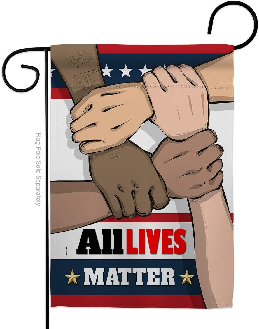 All Lives Matter Double-Sided Lawn Decoration Gift House Garden Yard Banner Revolution Movement Equality Social, Thick Fabric, Small Flag Only