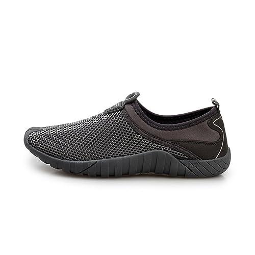 Zapatillas Verano Viejo de Fondos Blandos/Zapatos Antideslizantes Potencia/Malla Transpirable Zapatos Viejas-
