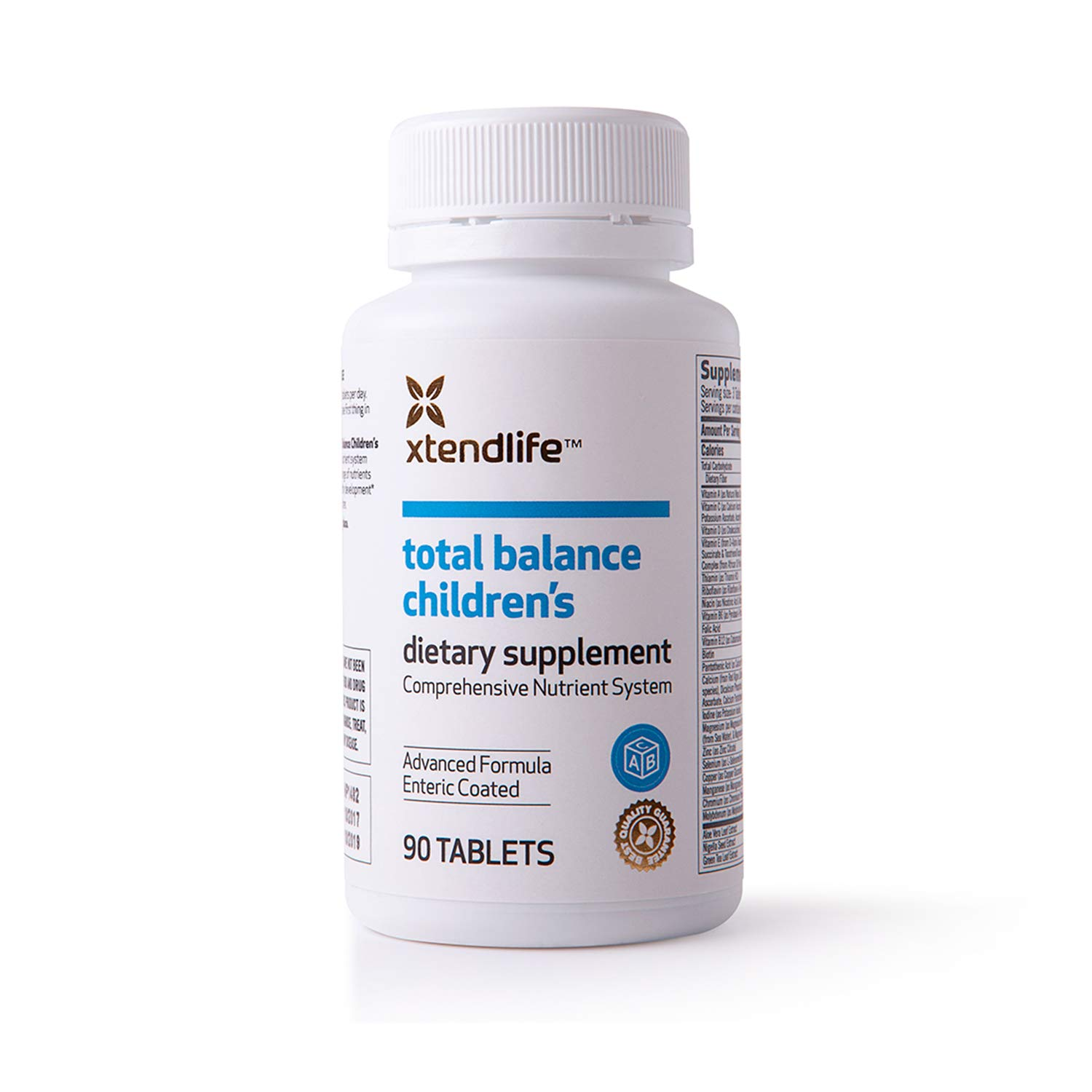 Xtend-Life Total Balance Children s Multivitamin, Daily Supplement, Immune Boosters, Brain Support, and Vitamin C, Ages 5-12, 90 tablets