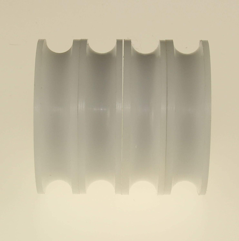 4 St/ück Polyacetal Rollen 45mm Durchmesser U Groove Delrin F/ührungsrollen Acetal Sheaves Made in EU 4 8 mm Bearing 6 mm Groove