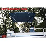 """Navyl Blue Vortex 4 Bow Bimini Top 6' Long, 79-84"""" Wide, 54"""" High, Complete Kit, Frame, Canopy, and Hardware (FAST SHIPPING - 1 TO 4 BUSINESS DAY DELIVERY)"""