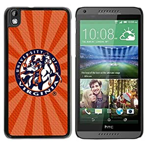 NCAA Virginia Cavaliers 5 Black Hard Phone Case For HTC Desire 816