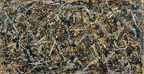 Handpainted Reproduction Jackson Pollock 200X100 cm (Approx. 80X40 inch) - Alchemy 1947 Abstract Paintings Canvas Wall Art Poster Rolled