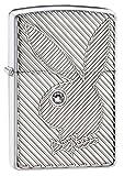 zippo playboy crystal - Zippo Armor Playboy Bunny Crystal Pocket Lighter, High Polish Chrome
