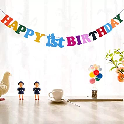 Amazon.com: Yuinyo1st cumpleaños banners – cumpleaños de ...