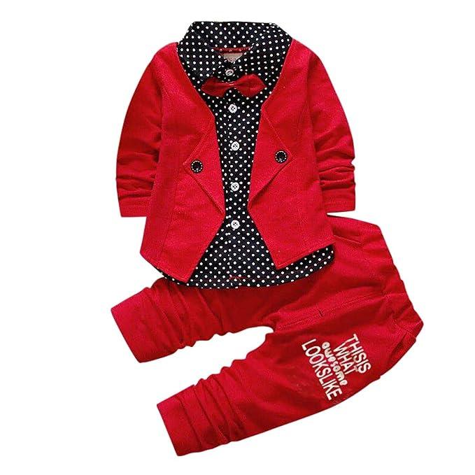 3e870d632f Si Noir by Hopscotch Boys Cotton Applique Bow Formal Shirt and Pant Set in  Red Color