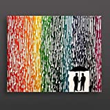 Gay Wedding Gift, Gay Couple Gift, Melted Crayon Art, Rainbow Painting 16''x20'' Canvas