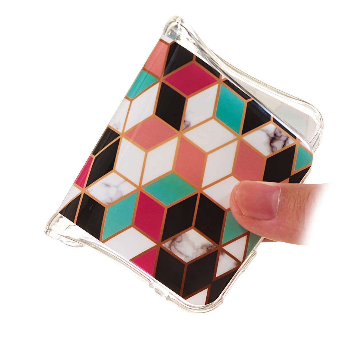 Ultra Mince TPU Souple Flexible Housse Etui de Protection Anti-Choc Anti-Rayures Bumper Tricolores+Stripes+Ecriture Noir Misstars 3X Coque en Silicone pour Huawei P30 Marbre