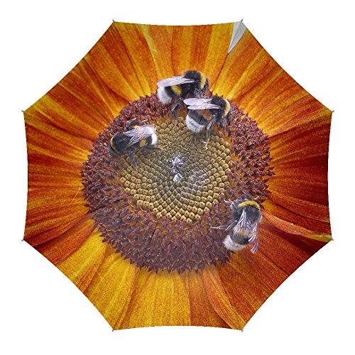 sunflowers bumblebees flowers - Umbrellas for Women Men,Travel Rain (Sunbrella Sunflower)