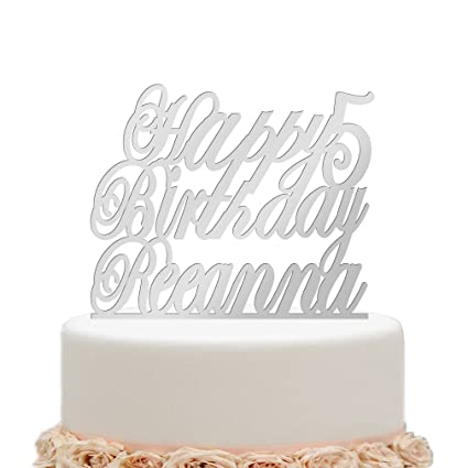 Amazon Ivisi Personalized Happy Birthday Cake Topper Monogram
